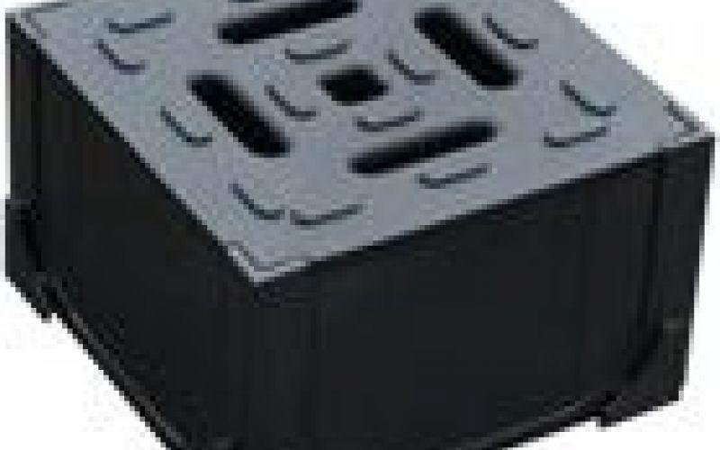Melns plastmasas stūra elements HexaLine