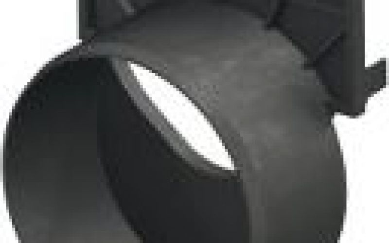 Kanāla gala noslēgs ar izvadu Dn100 melns HexaLine
