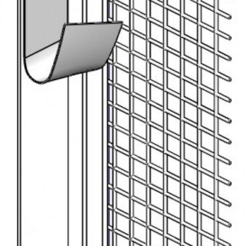 PVC logu profils ar stikla šķiedras sietu 6x100x2400mm