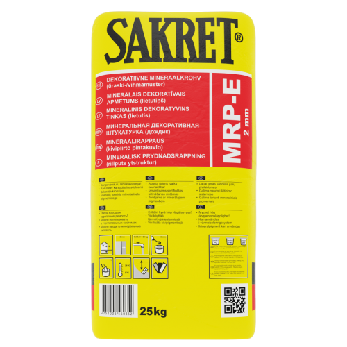 SAKRET MRP-E 2mm dekoratīvais apmetums (ķirmis),25kg