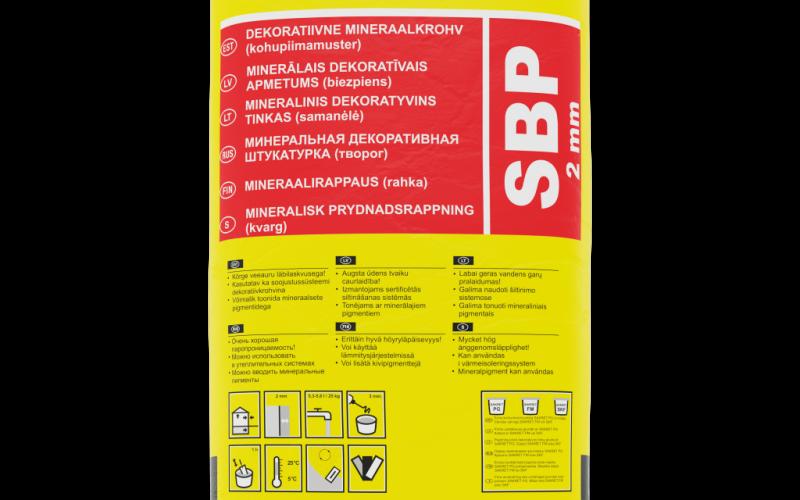 SAKRET SBP 3mm dekoratīvais apmetums (biezpiens),25kg