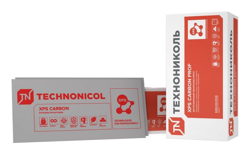Ekstrudēts putuplasts Technonicol XPS 35-300 1180x580x80-L (ar spundi) 0.68 m2