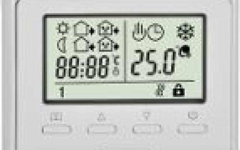 Termoreg. UFC001 (5..40°C) 16A LCD + grīdas sens.,progr., (zemapmetuma)