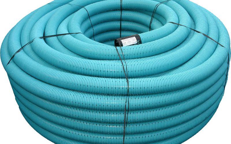 Pipelife drenāžas caurule bez filtra, rullī 50m Ø74/65mm