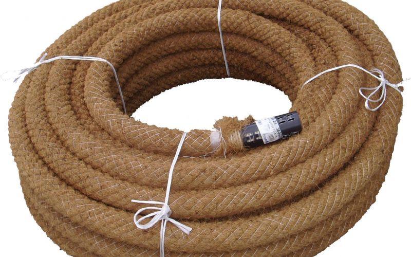 Pipelife drenāžas caurule ar uzmavu un kokšķiedras filtru rullī Ø50/58mm, 150m