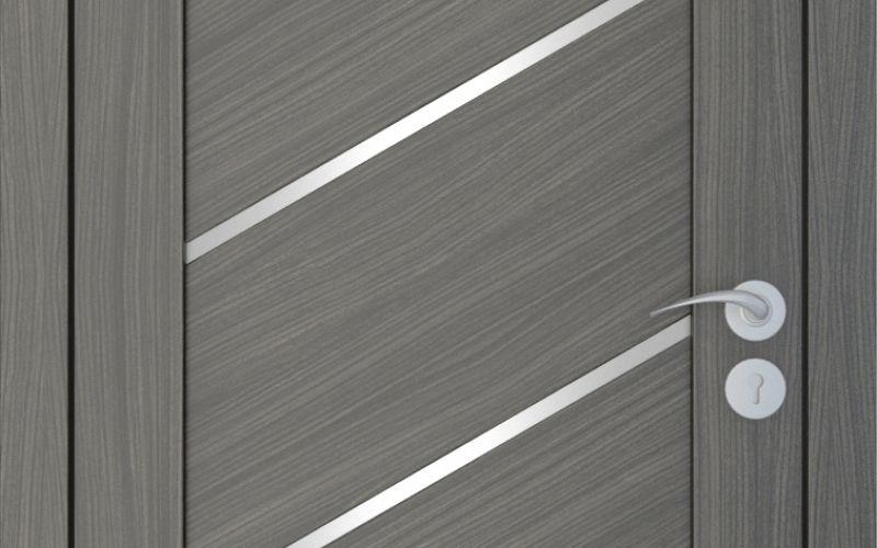 Durvis ar ECO-Finierējumu Diagonal Krāsa-Ozols Neapolis 90x200cm