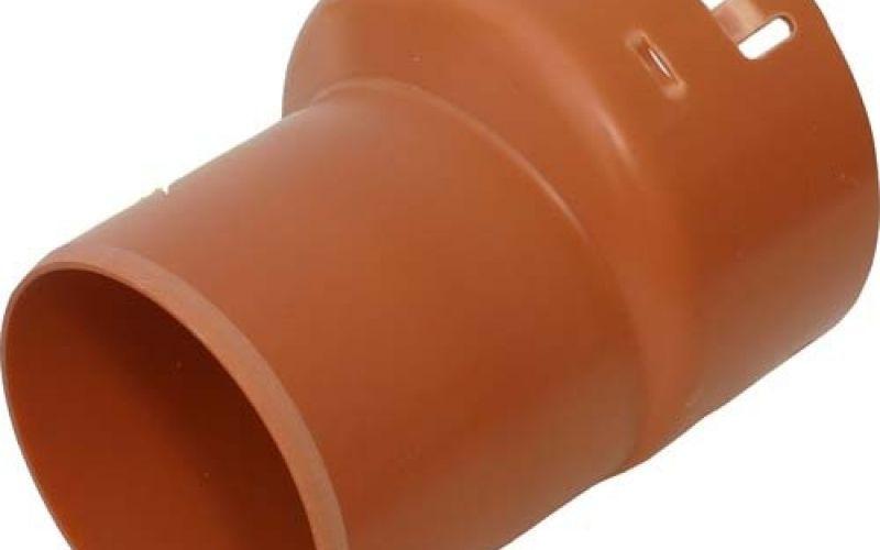 PVC drenāžas pāreja 110/92 uz gludsienu caurules uzmavu