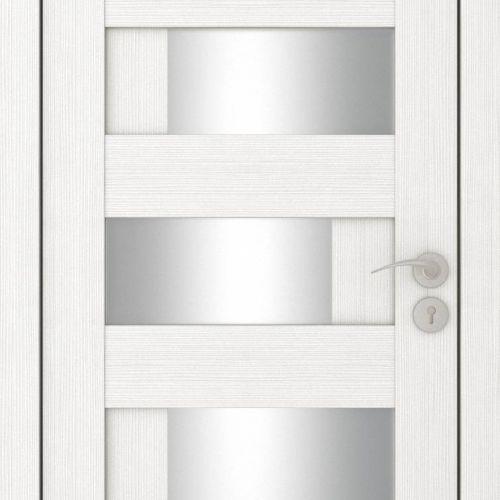 Durvis ar ECO-Finierējumu Domino-4 Krāsa-Plombīrs 90x200cm