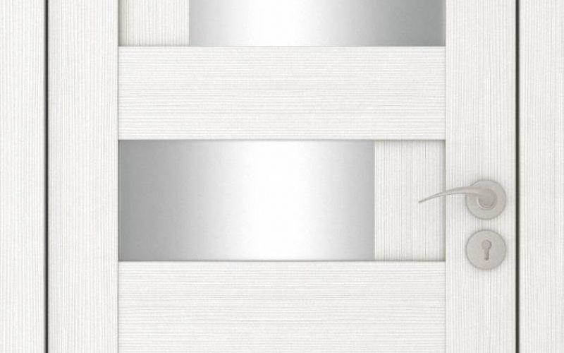 Durvis ar ECO-Finierējumu Domino-4 Krāsa-Plombīrs 70x200cm