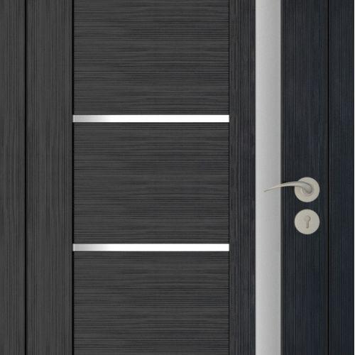Durvis ar ECO-Finierējumu MIX-2 Krāsa-Venge Melinga 90x200cm