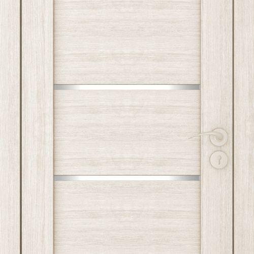 Durvis ar ECO-Finierējumu Horizontal-1 Krāsa-Kapučino 90x200cm