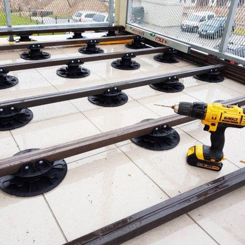 Regulējama terases atbalsta pēda 270-370 mm