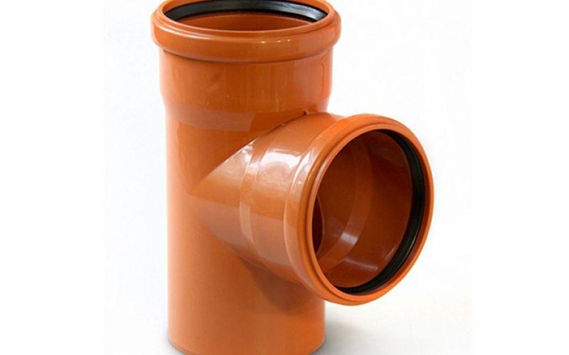 Ārējās kanalizācijas trejgabals Ø 200-160 mm, 90°