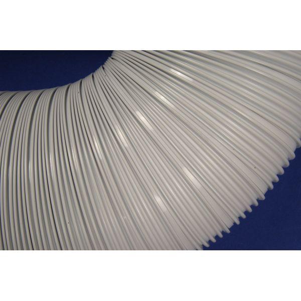 Alumīnija gaisa vads, balts