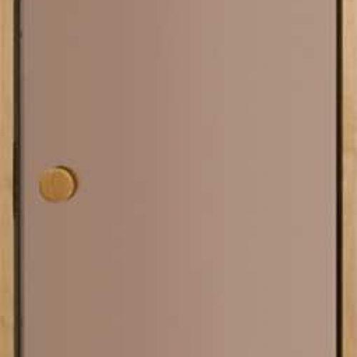 Saunas durvis, stikls Bronza, izmērs (900x1900 mm)