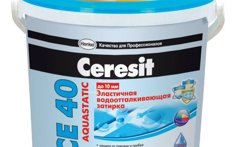 CERESIT CE40 aquastatic flīžu šuvotājs balts 5kg