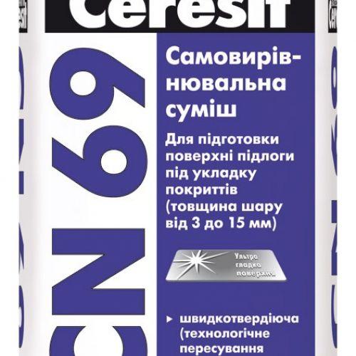 CERESIT CN69 pašizlīdzinošais maisījums 25kg