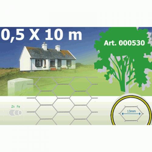 Cinkots heksagonālais žogs 1.0x10m rullis, 40x0.8mm acs (000531)