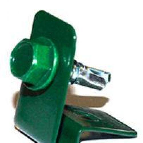 Stiprinājums stieplei ar skrūvi, zaļš (000625)