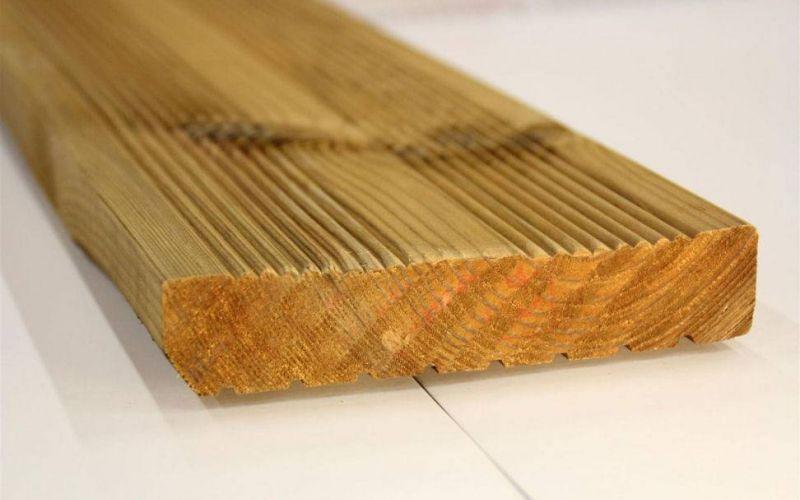 Terases dēļi, impregnēti brūnā krāsā, 30x122mm
