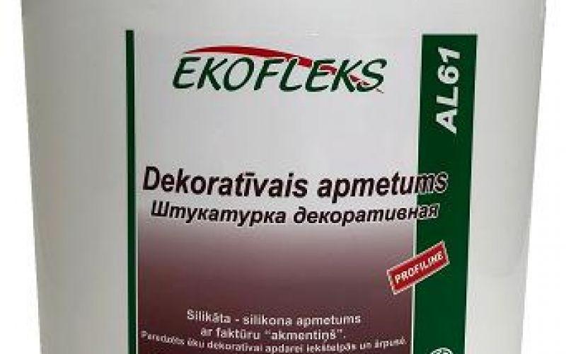 "AL61 EKOFLEKS - Decorative plaster with texture ""akmentiņš"""