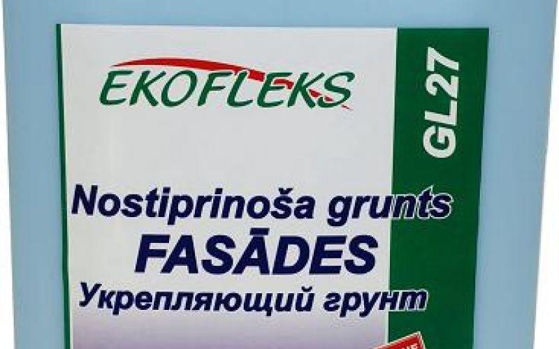 GL27 EKOFLEKS - Nostiprinoša fasādes grunts