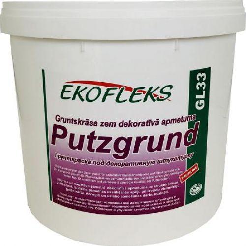 GL33 EKOFLEKS - Gruntskrāsa zem dekoratīvā apmetuma ar kvarca graudu Putzgrund