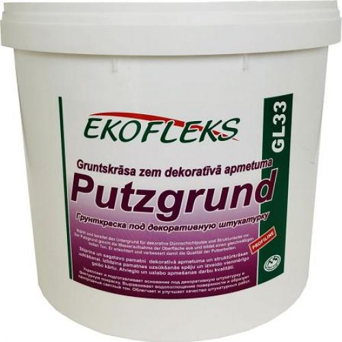GL33 EKOFLEKS - Грунт-краска под декоративную штукатурку с кварцевым зерном Putzgrund