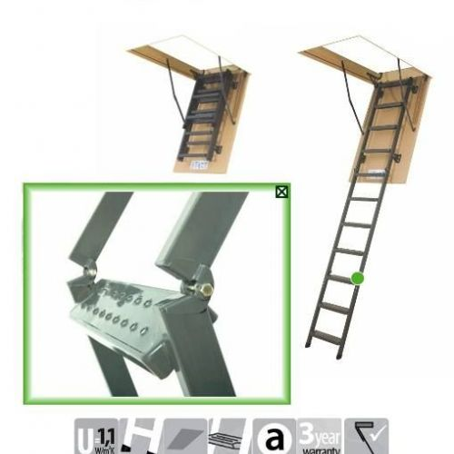 FAKRO Metal attic ladder SMART LMS-305 trīsdaļīgas To order