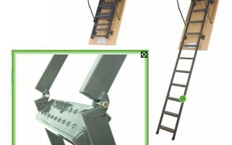 FAKRO Metāla bēniņu kāpnes SMART LMS-280 trīsdaļīgas Uz pasūtījumu