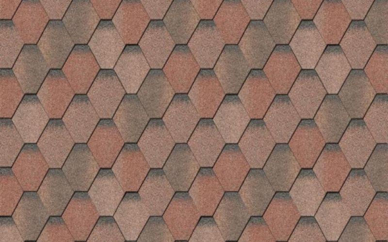 Iko bitumena šindeļi ArmourShield 34 - Uguns sarkans ēnots, 3m2