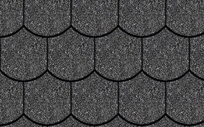 Iko bitumena šindeļi Victorian 01 - Melns, 3m2