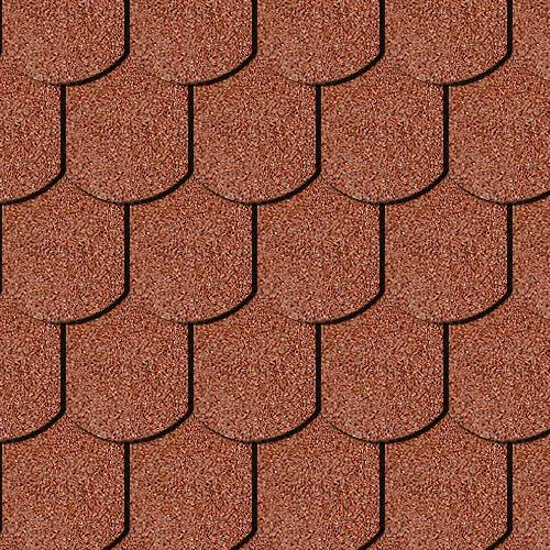 Iko bitumena šindeļi Victorian 10 - Ķieģeļu sarkans, 3m2