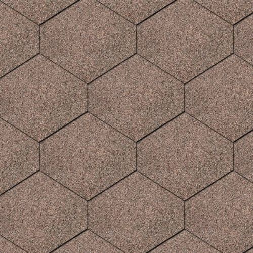 Iko bitumena šindeļi DiamantShield 07 - Divu toņu brūns, 2.46m2