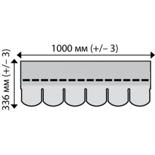 Iko bitumena šindeļi SuperGlass Biber 10 - Ķieģeļu sarkans, 3m2