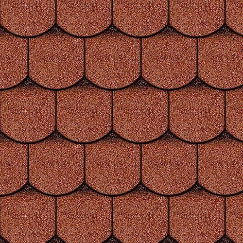 Iko bitumena šindeļi Victorian 20 - Ķieģeļu sarkans ēnots, 3m2