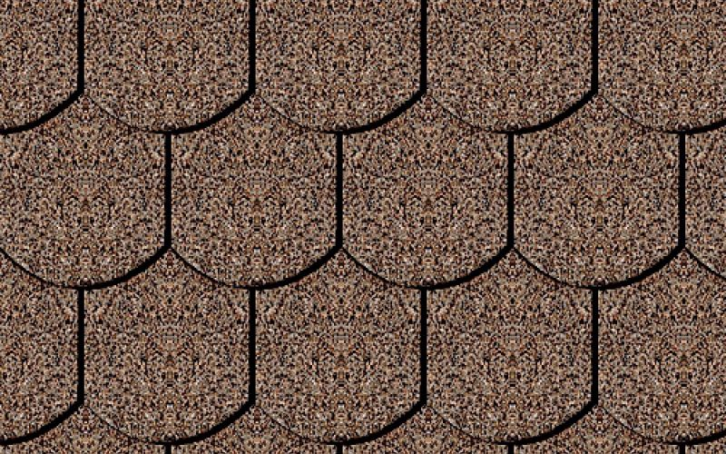 Iko bitumena šindeļi Victorian 27 - Divu toņu brūns, 3m2