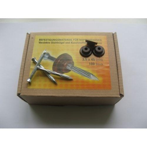 ISOSTUD naglas ar cepurītēm 3.6mm x 45mm (100 gab./kaste)