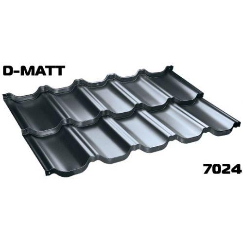 Jumta moduļi BudMat VENECJA 30*, 1150x700mm (0.805m2),D-Matt RAL-7024 grafīta
