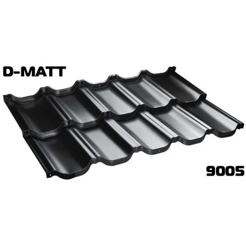 Jumta moduļi BudMat VENECJA 30*, 1150x700mm (0.805m2),D-Matt RAL-9005 melns