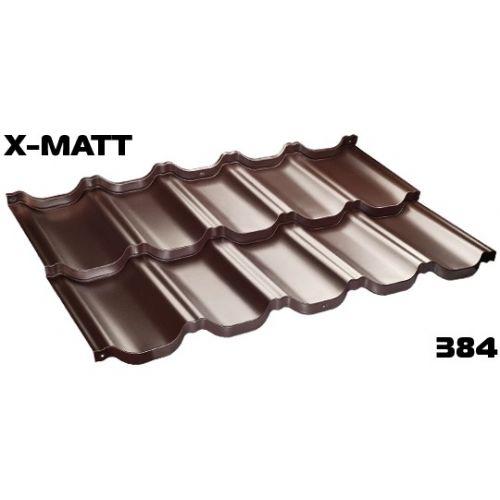Jumta moduļi BudMat VENECJA 50*, 1150x700mm (0.805m2),X-Matt SSAB 384 brūns (RAL-8017)