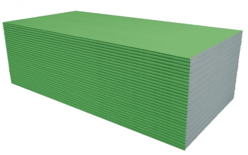 Knauf Zaļš (GKBI) mitrumizturīgs reģipsis 1200x2600x12,5mm
