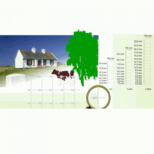 Lauksaimniecības žogs 80/6/15 2mm, cinkots, 50m (000348)
