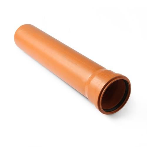 Ārējās kanalizācijas caurule ar uzmavu T8 Ø 200 mm, H-6000 mm