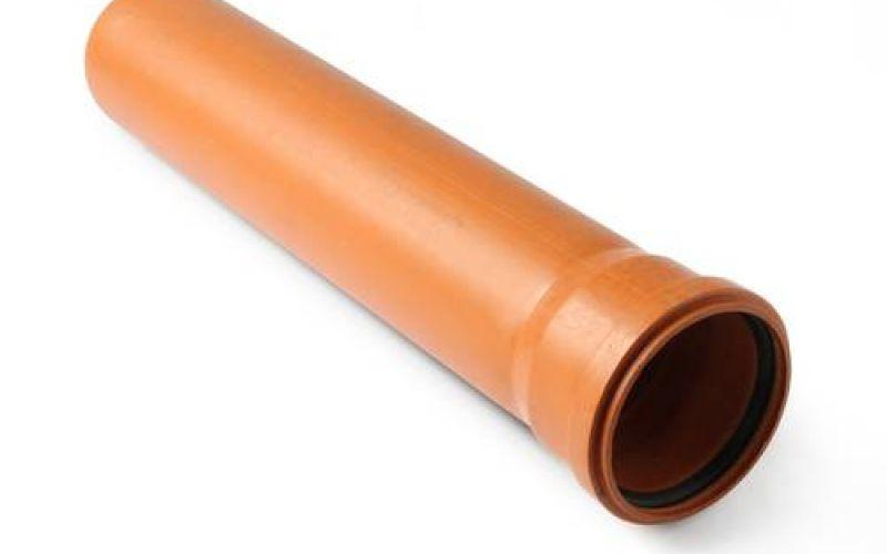 Ārējās kanalizācijas caurule ar uzmavu SN4 Ø 100 mm, H-500 mm