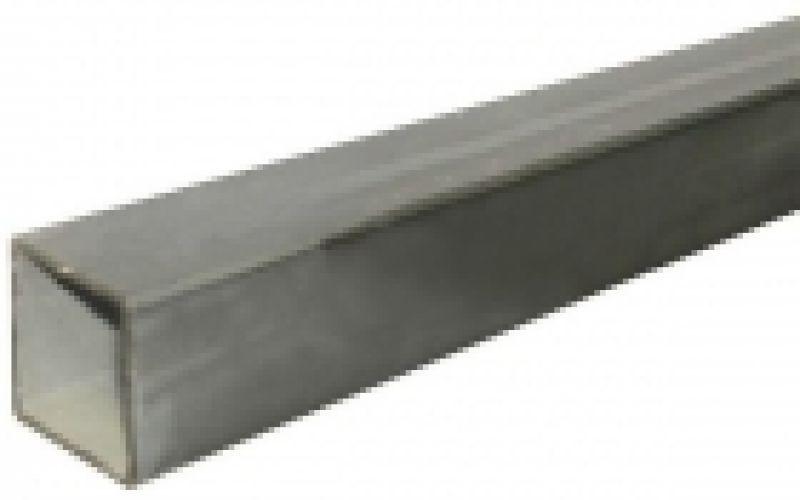 Nerūsējošā tērauda kvadrātcaurule, AISI 304, 20x20x2mm, 6m