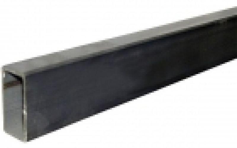 Nerūsējošā tērauda taisnstūra caurule, AISI 304, 50x25x2mm, 6m