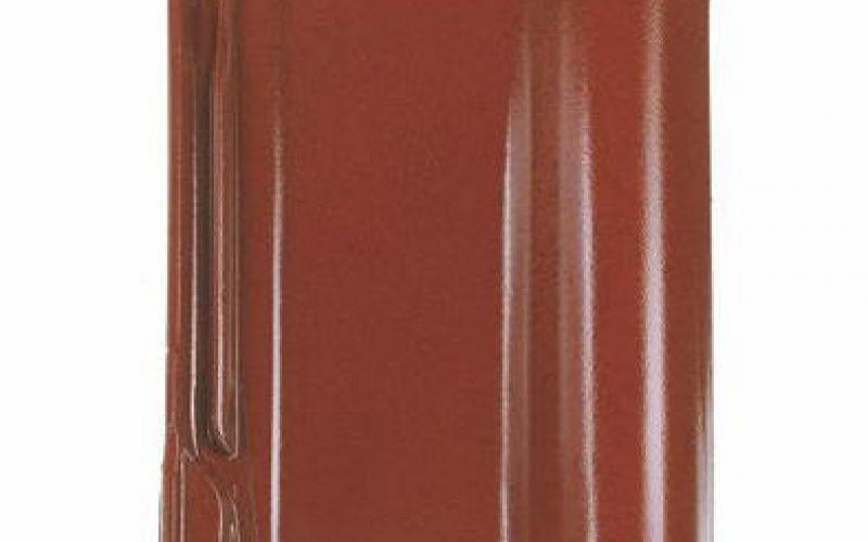 Monier Rubin 13V, rindu dakstiņš, glazēts, kastaņbrūns