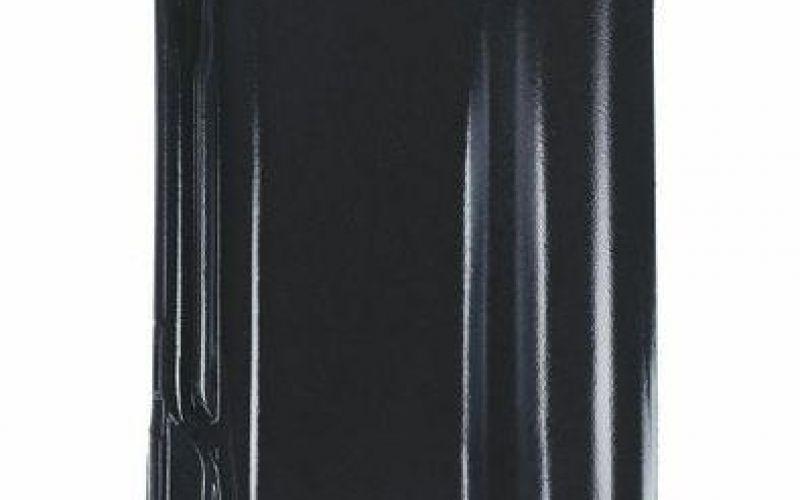Monier Rubin 13V, a row of tile 2, glazēts, black
