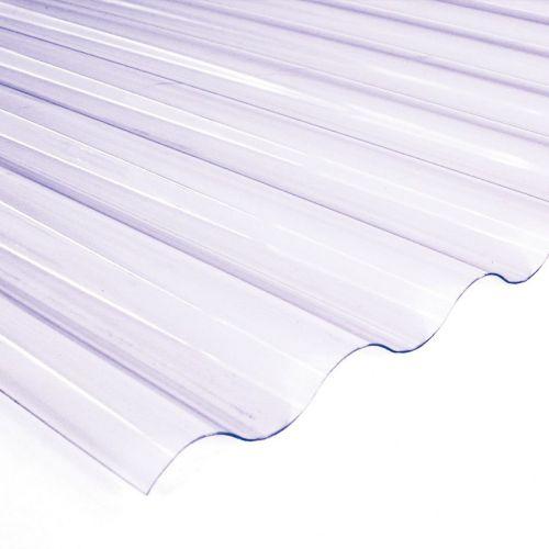 Onduline viļņotā PVC jumta loksne 0.8mm 2000x950mm caurspīdīgs